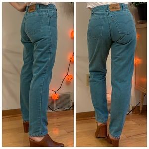 Vintage orange label Levi's jeans